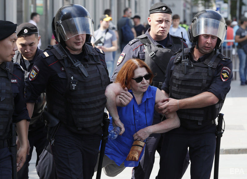 москва, путин, мосгордума, происшествия, путин х**ло, видео, митинг, протесты, собаки, задержанные, новости россии