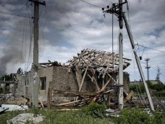 Луганск, ЛНР, обстрел, дома, разрушения