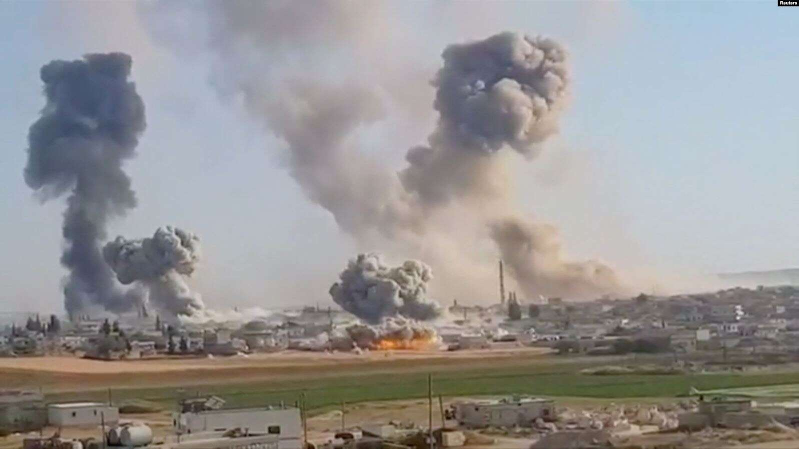 Идлиб, Сирия, бомбардировка