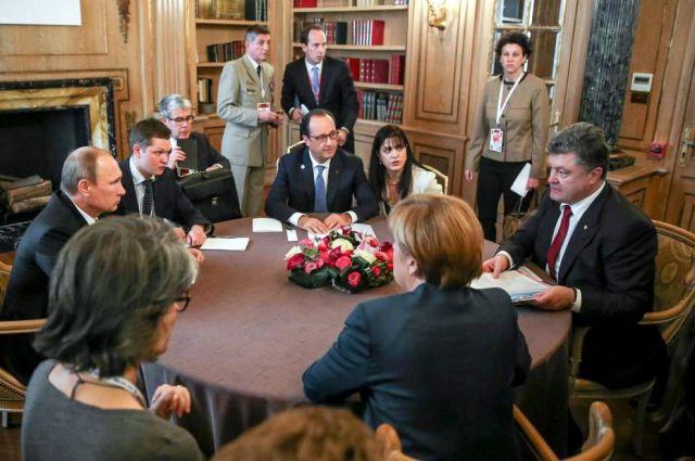 Донбасс, нормандская четверка, Франция, Германия,  Украины, Россия, переговоры