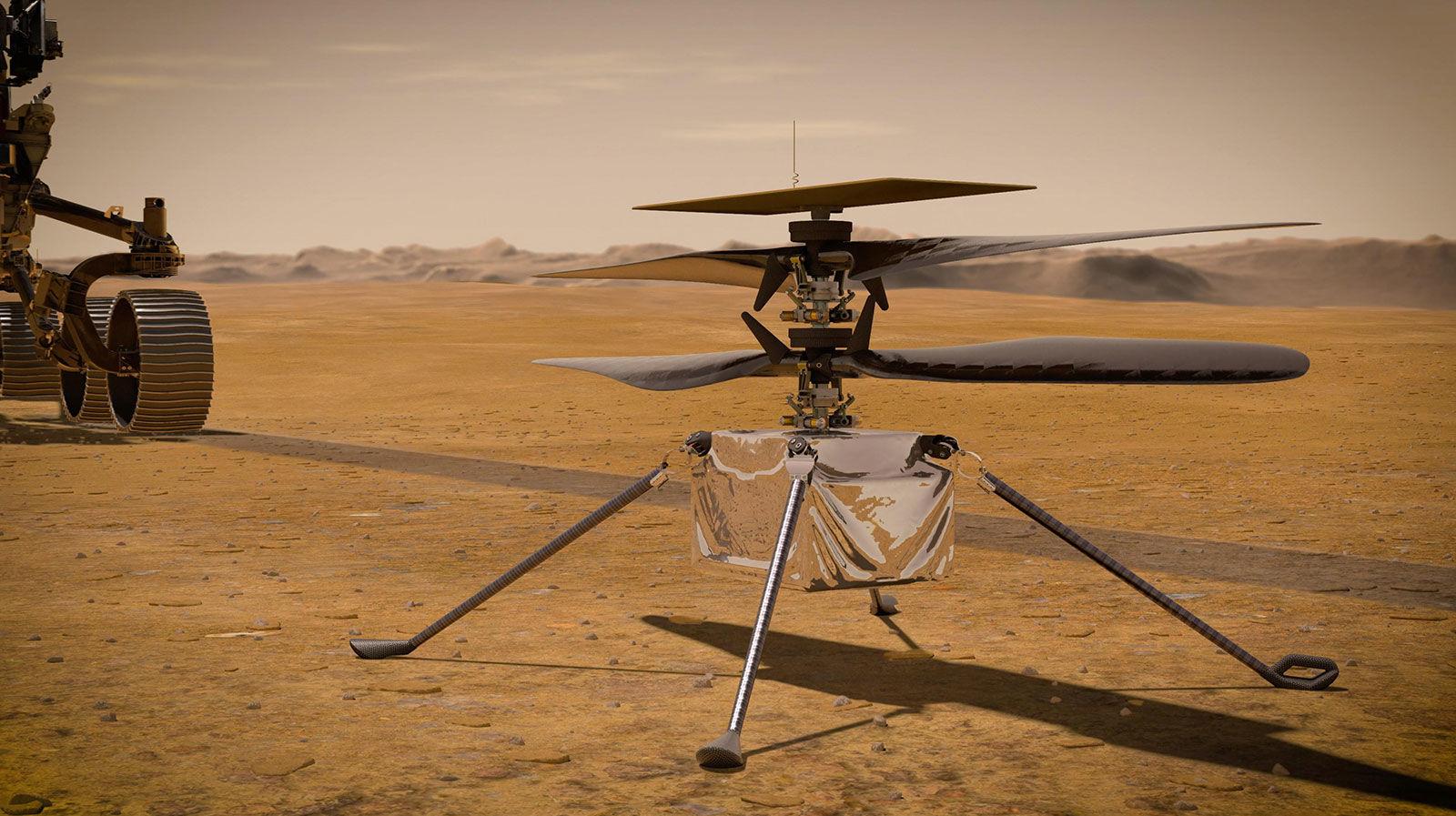 Два новых рекорда: Ingenuity на Марсе продолжает исследовать Красную планету