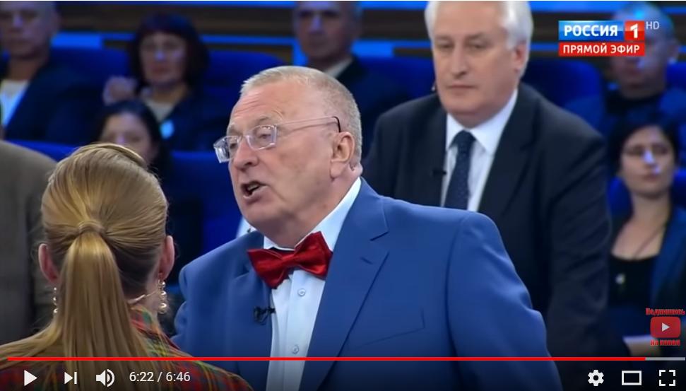 На российском ТВ скандал из-за Украины: Жириновский возмутил Сеть причиной войны на Донбассе
