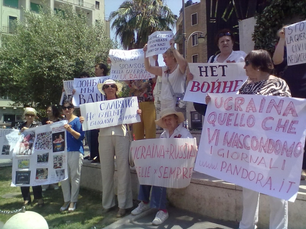 Мадрид, война, Украина, митинг, юго-восток, Донбасс