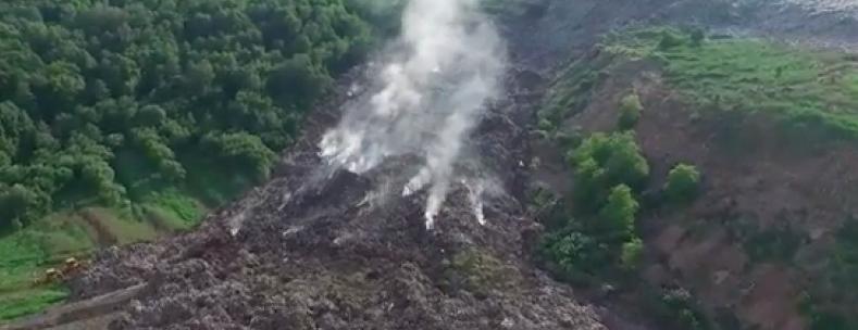 На Львовщине горело две свалки: огонь уничтожил 30 м2 мусора