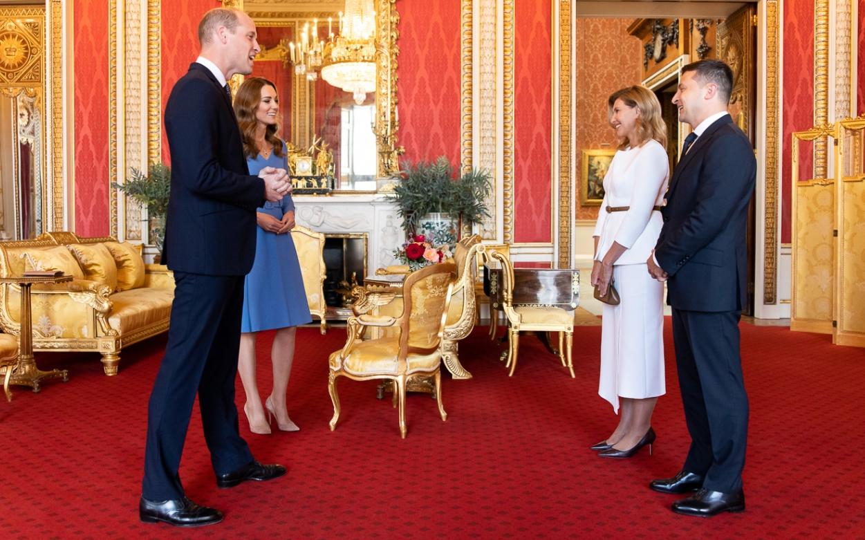Президент Зеленский и первая леди встретились с принцем Уильямом и Кейт Миддлтон