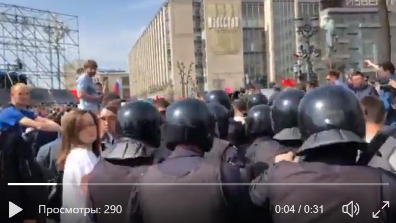 """Полиция грубо """"раздавила"""" бунт против Путина в Москве: по всей России задержаны сотни людей - кадры"""