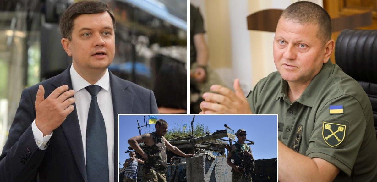Визит Разумкова в зону ООС не состоится: Главнокомандующий ВСУ Залужный ввел запрет