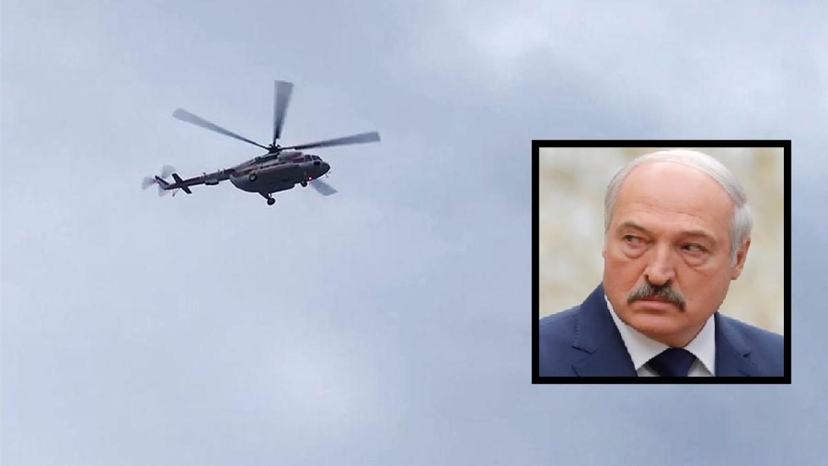Вертолет над резиденцией Лукашенко попал на видео: СМИ сообщают о бегстве президента, на крыше снайперы
