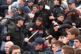 В Москве десятки чеченцев устроили массовое побоище