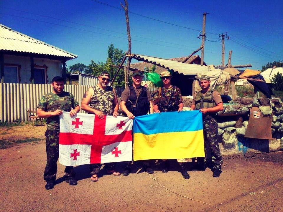 Грузинские добровольцы отправятся в зону АТО