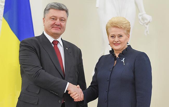 Переговоры между лидерами Украины и Литвы: 9 июня Порошенко и Грибаускайте проведут важную встречу в Харькове