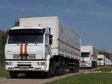 МИД Украины: колонна с гумпомощью РФ для Донбасса незаконно пересекла границу