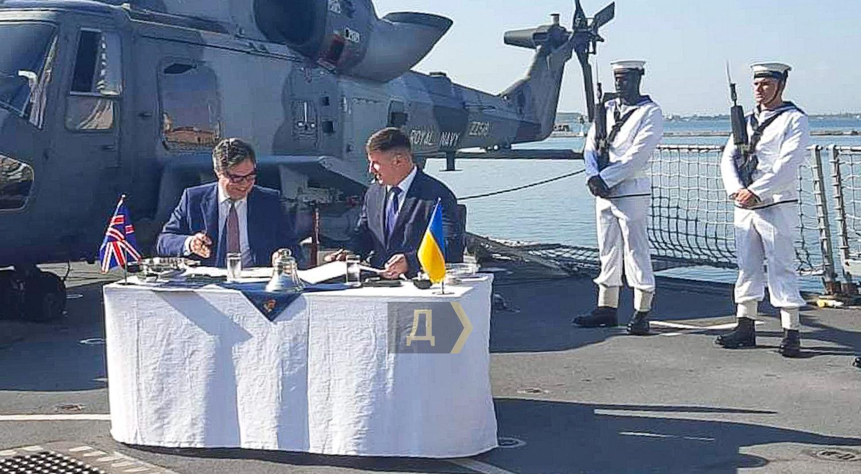 Украина и Великобритания подписали исторический договор о развитии Военно-Морских сил
