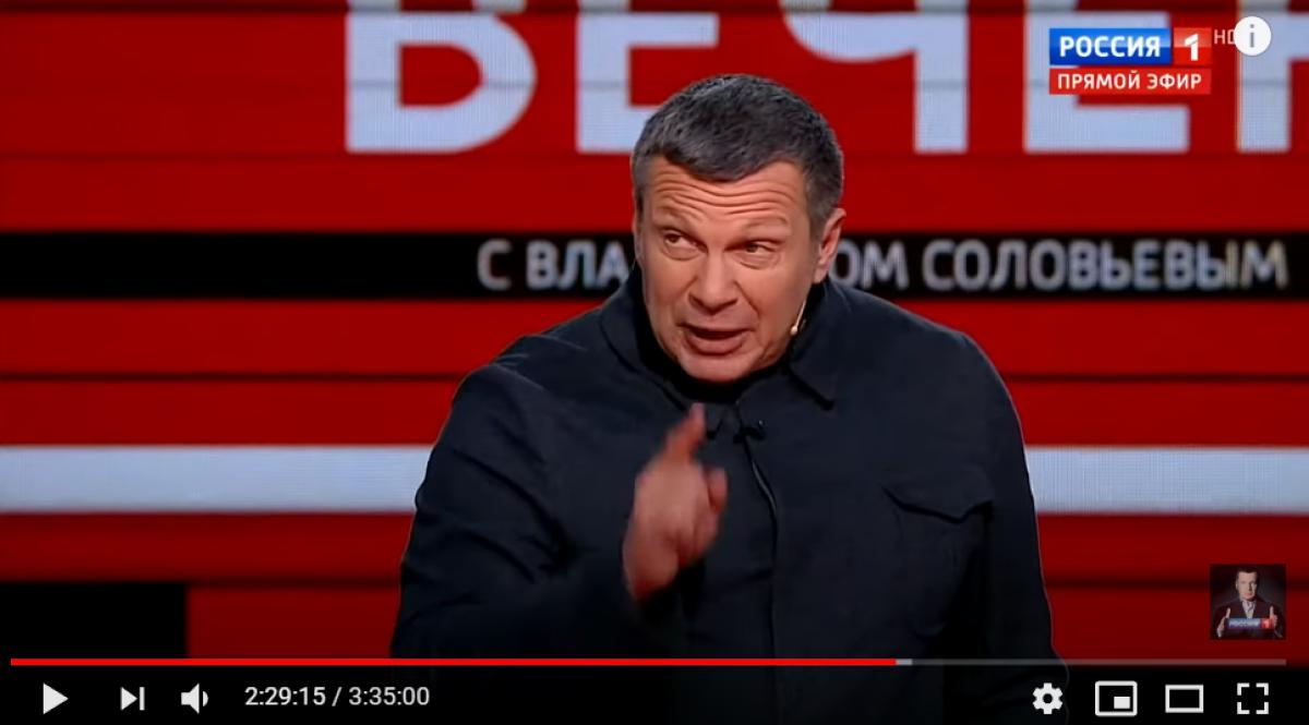 """""""Пошел вон отсюда в Киев!"""" - Соловьев выгнал """"украинского эксперта"""" из студии после неудобной правды в лицо, видео"""