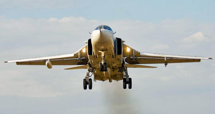 Под Волгоградом упал российский бомбардировщик Су-24