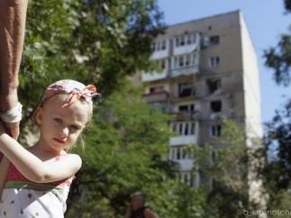 Как в Донецке бомбили центр города