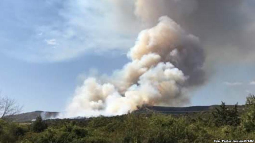агармыш, пожар, лес, огонь, фото,  крым, аннексия, происшествия, авиация