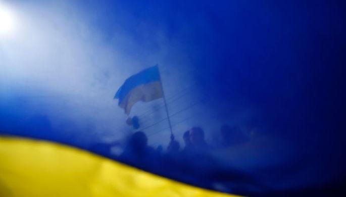 горловка, днр, боевики, террористы, флаг украины, война на донбассе, происшествия