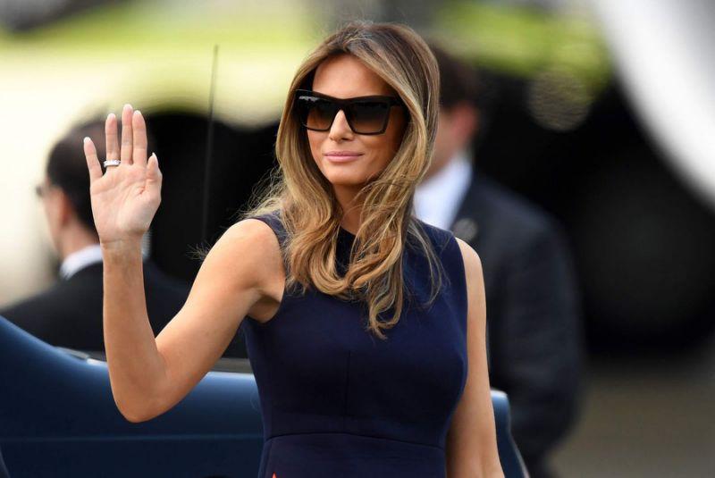 """Протестующие в Гамбурге не пускают жену президента США Меланию Трамп на саммит """"Большой двадцатки"""""""