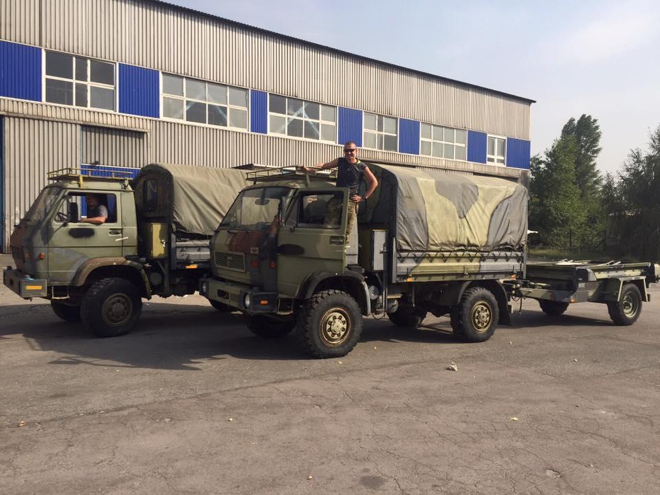 В зону АТО передали мощные быстроходные военные дизельные грузовики, - Мысягин сообщил о новом подспорье волонтеров бойцам из ВСУ