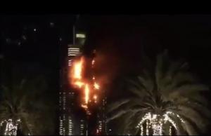 В горящем небоскребе в Дубае произошло несколько взрывов