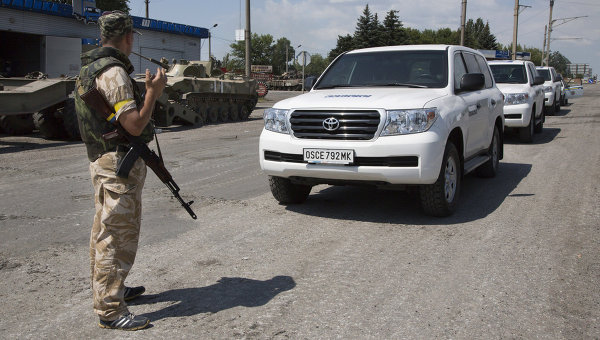 МИД: Боевики не пропустили в Дебальцево наблюдателей ОБСЕ