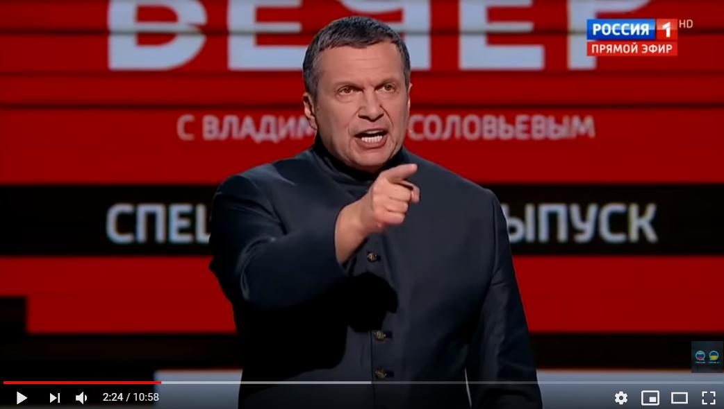 Украинский эксперт довел Соловьева до скандала всего одной фразой о Донбассе: видео вызвало ярость россиян