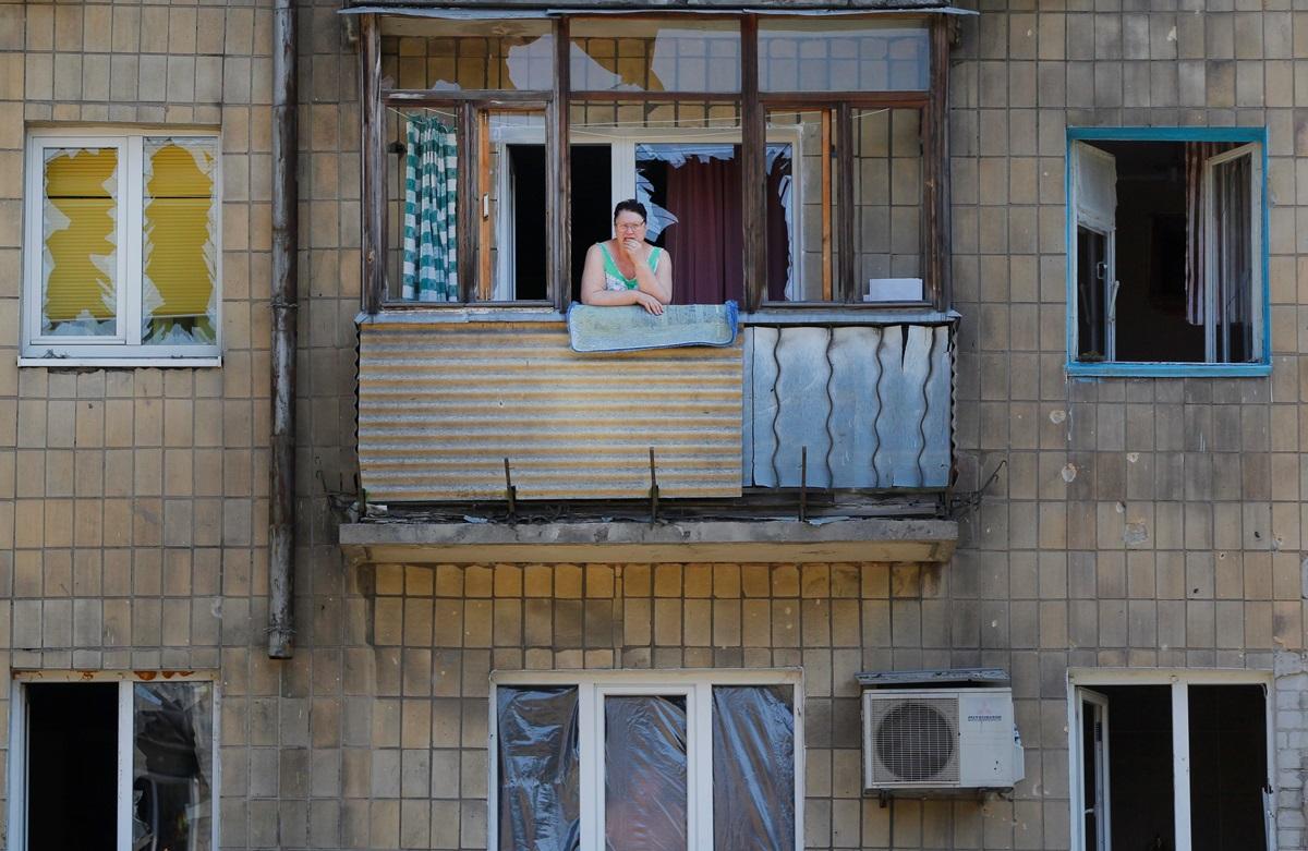Донецк после воскресных взрывов и пожаров