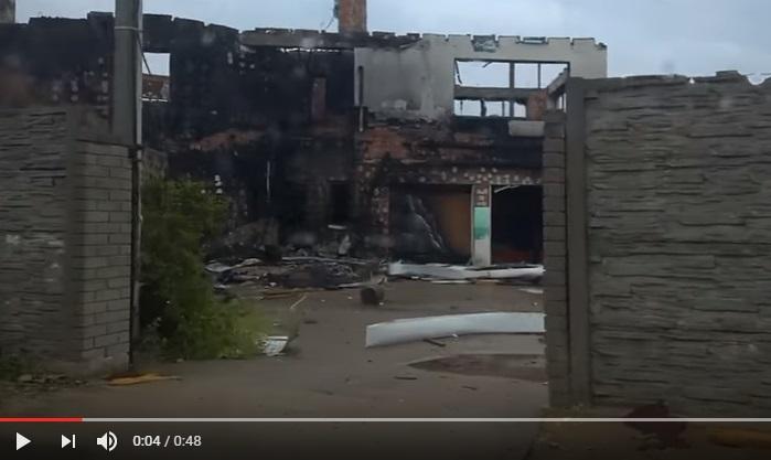 Одна большая черная и страшная руина: новое видео из Широкино - кадры