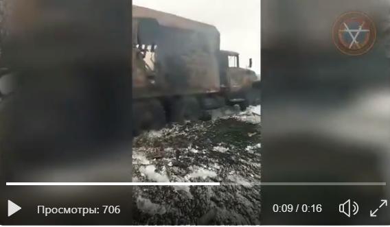 """Подрыв военного """"ЗИЛа-131"""" на Донбассе: новое видео взорванного грузовика удивило Сеть деталью"""