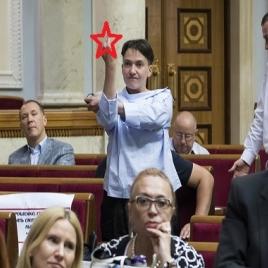 """Савченко раскрыла интригу: """"народная героиня"""" объяснила, за что и кому именно был адресован в ВР скандальный жест средним пальцем, - кадры"""