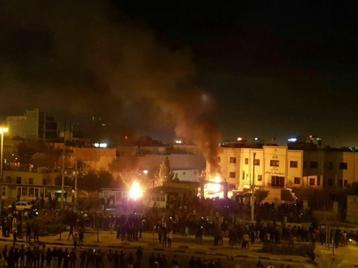 Иран, Тегеран, Касем Сулеймани, Портреты, Протестующие, Авиалайнер, Признание, власти, Акции протестов