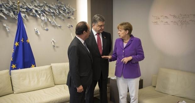 петр порошенко ,ангела меркель, франсуа олланд, владимир путин, нормандская встреча, политика, минск