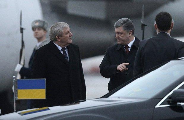 Порошенко прибыл в Минск первым. Фото