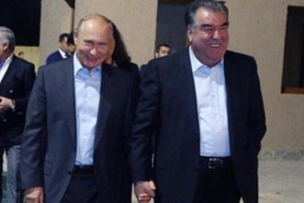 путин, душанбе, курьезы. мужчины, россия, таджикистан, рахмон, видео