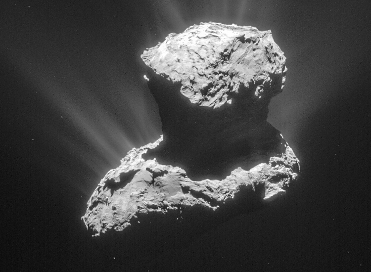 комета, космос, сухой лед