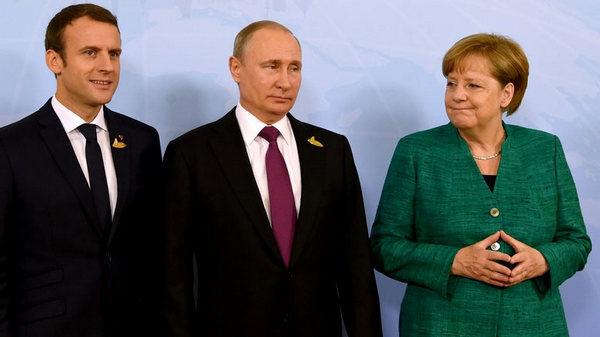 украина, германия, россия, франция, порошенко, путин, макрон, меркель, агрессия, донбасс, ато, перемирие