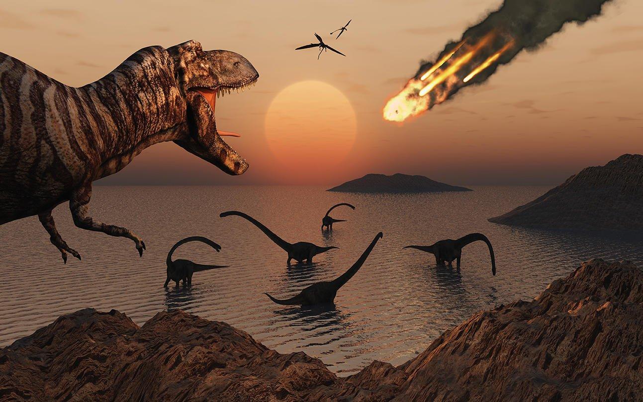 Картинка гибель динозавров