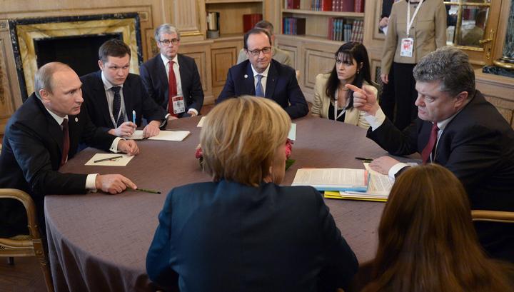 путин, меркель, олланд, порошенко, нормандская четверка, украина, россия, франция, германия, минск, донбасс