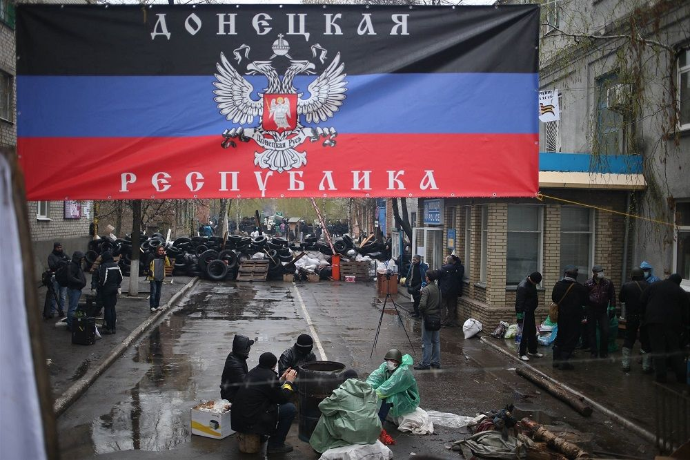 Военно-полевая палатка рядом с центральным моргом Донецка вызвала переполох в ОРДЛО