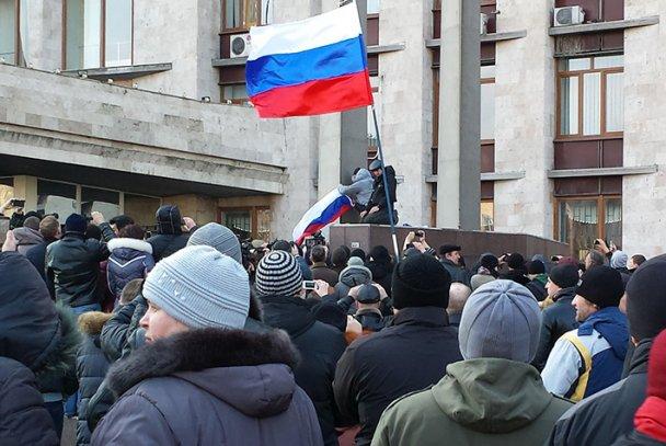 Дончанин: война пришла в Донецк под флагом России