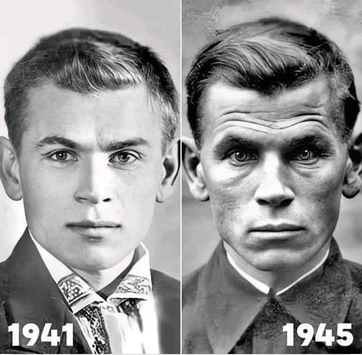 Шендерович показал фото киевского художника Кобытева в день ухода на фронт и после возвращения