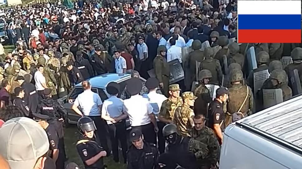 Бунт на Кавказе становится опасным для Москвы: ингушский ОМОН не пропустил колонну путинской Росгвардии