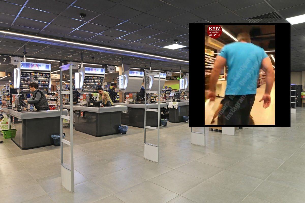 В Борисполе качок двумя ударами усмирил пьяных дебоширов в супермаркете: появилось видео