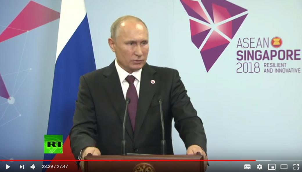 "Порошенко довел до ""бешенства"" Путина на брифинге в Сингапуре: видео с президентом РФ взорвало соцсети"