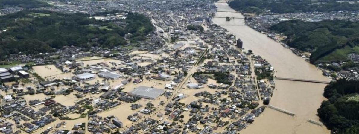 Наводнение в Японии: стихия стерла с лица Земли несколько поселков на юге страны