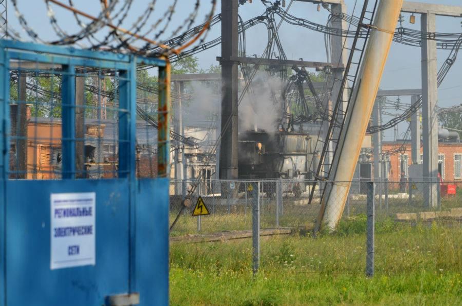 Привокзальный район Донецка после обстрелов 4 августа