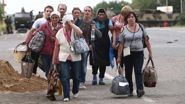 юго-восток Украины, Луганская область, Луганская ОГА, беженцы и переселенцы,  АТО, Донбасс