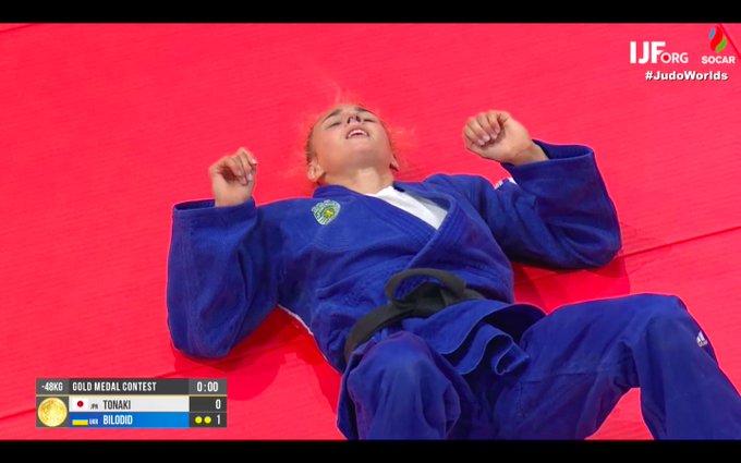 """""""Я люблю тебя, Даша"""", - украинцы в восторге после золота украинки Белодед на чемпионате мира по дзюдо"""