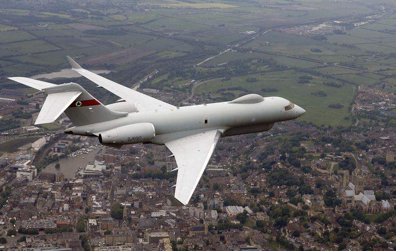 Британский самолет-разведчик управления нанесением ударов Sentinel R1 несколько часов кружил у границ РФ - подробности